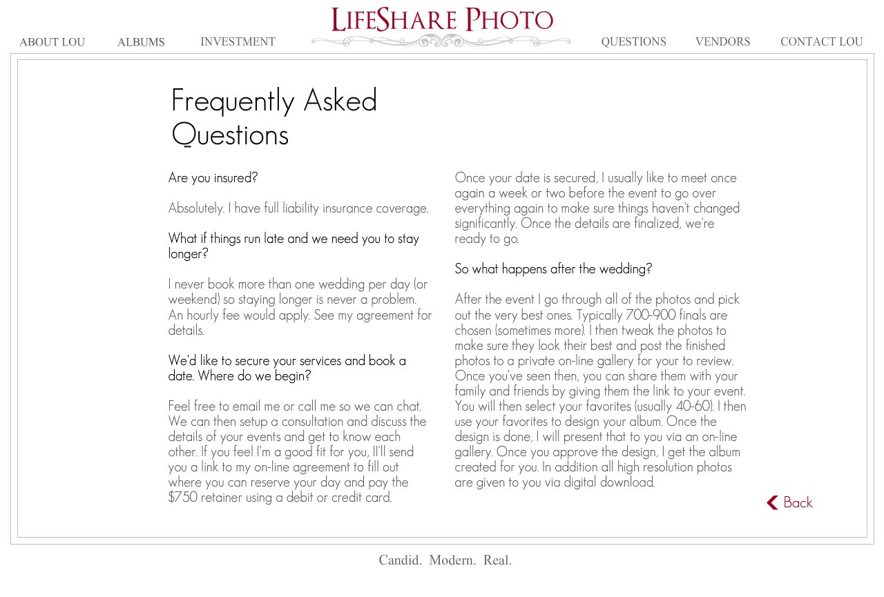 Frequently Asked Questions pg2-Rochester NY Wedding Photographers in Rochester NY