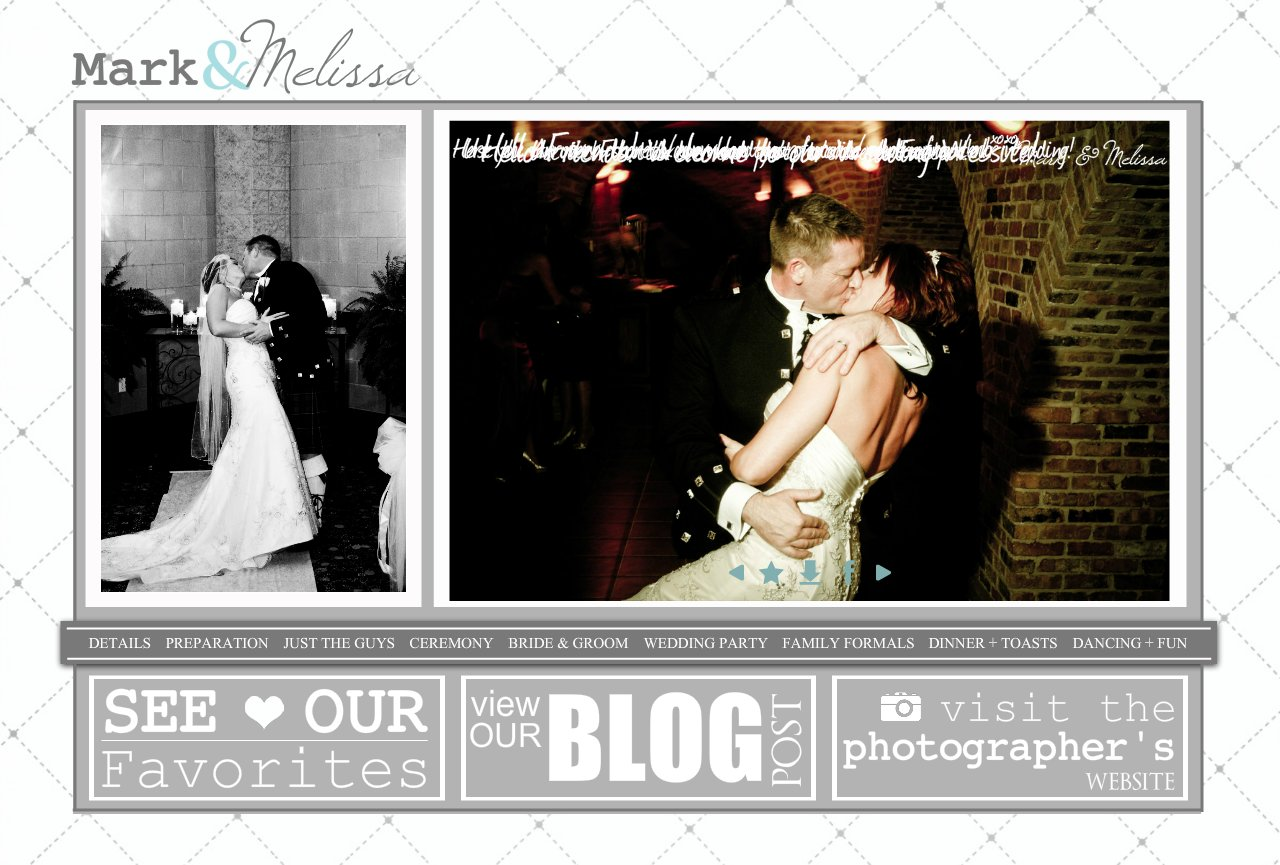Mark + Melissa Wedding - Our Wedding Website-