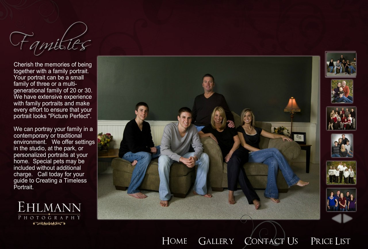 Family Gallery page