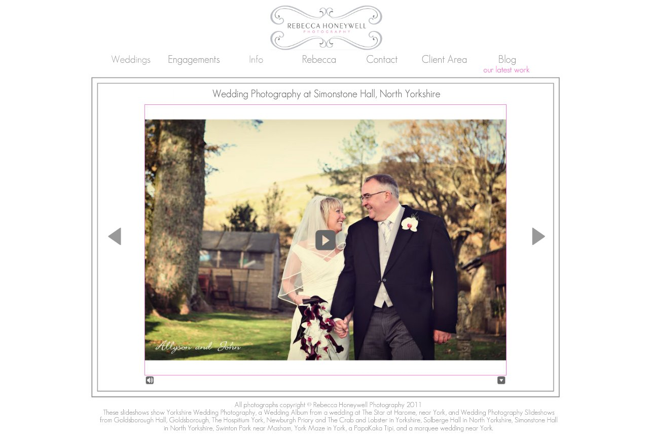Simonstone Hall Wedding Photography Slideshow