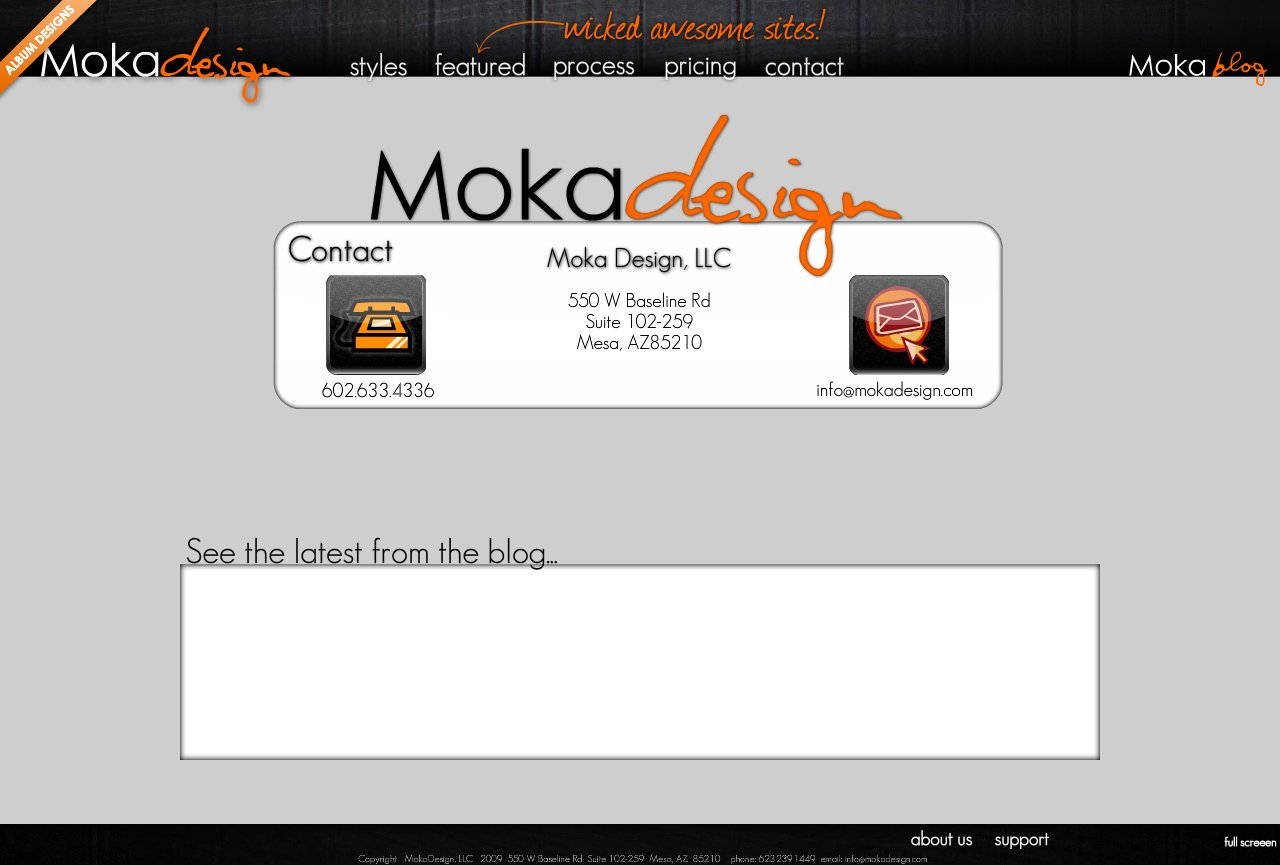 Contact-Custom Flash Websites by MokaDesign