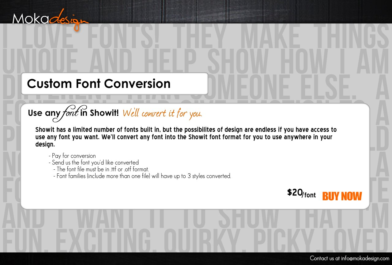 Font Conversion