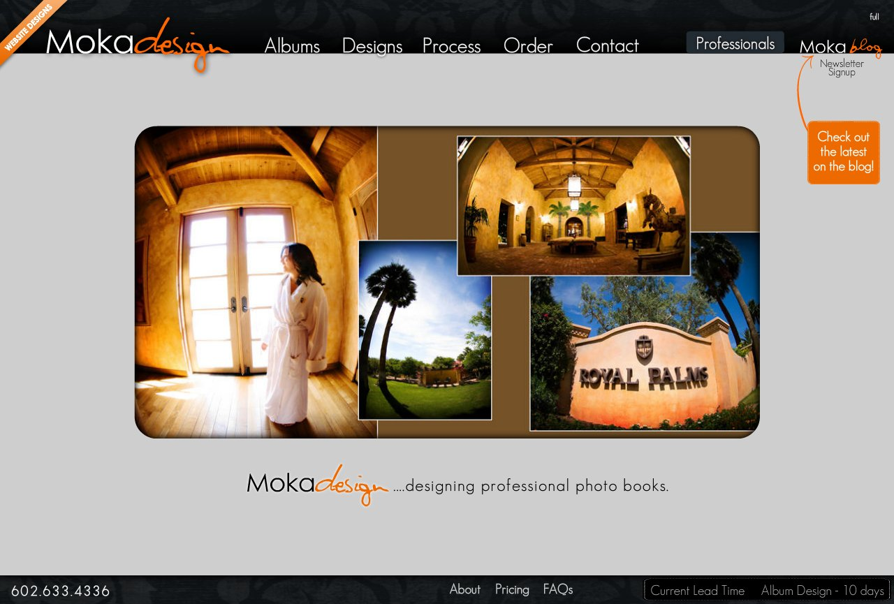 Professional designs for wedding albums.