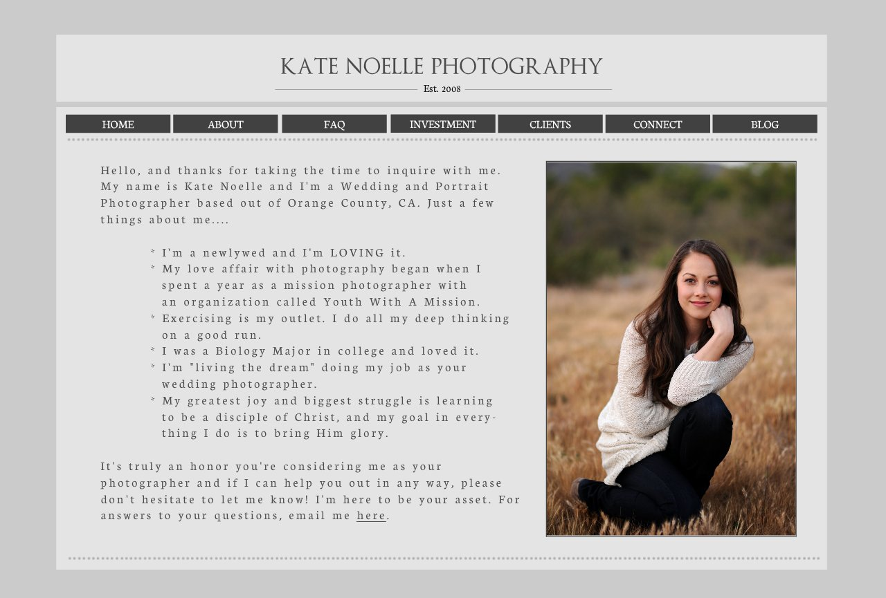 Kate Noelle Photography Pricing Info - About-1