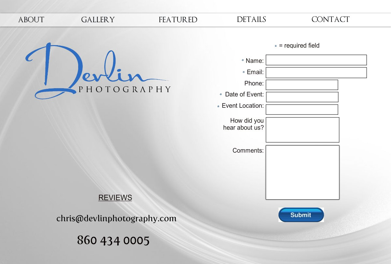 Devlin Photography Contact