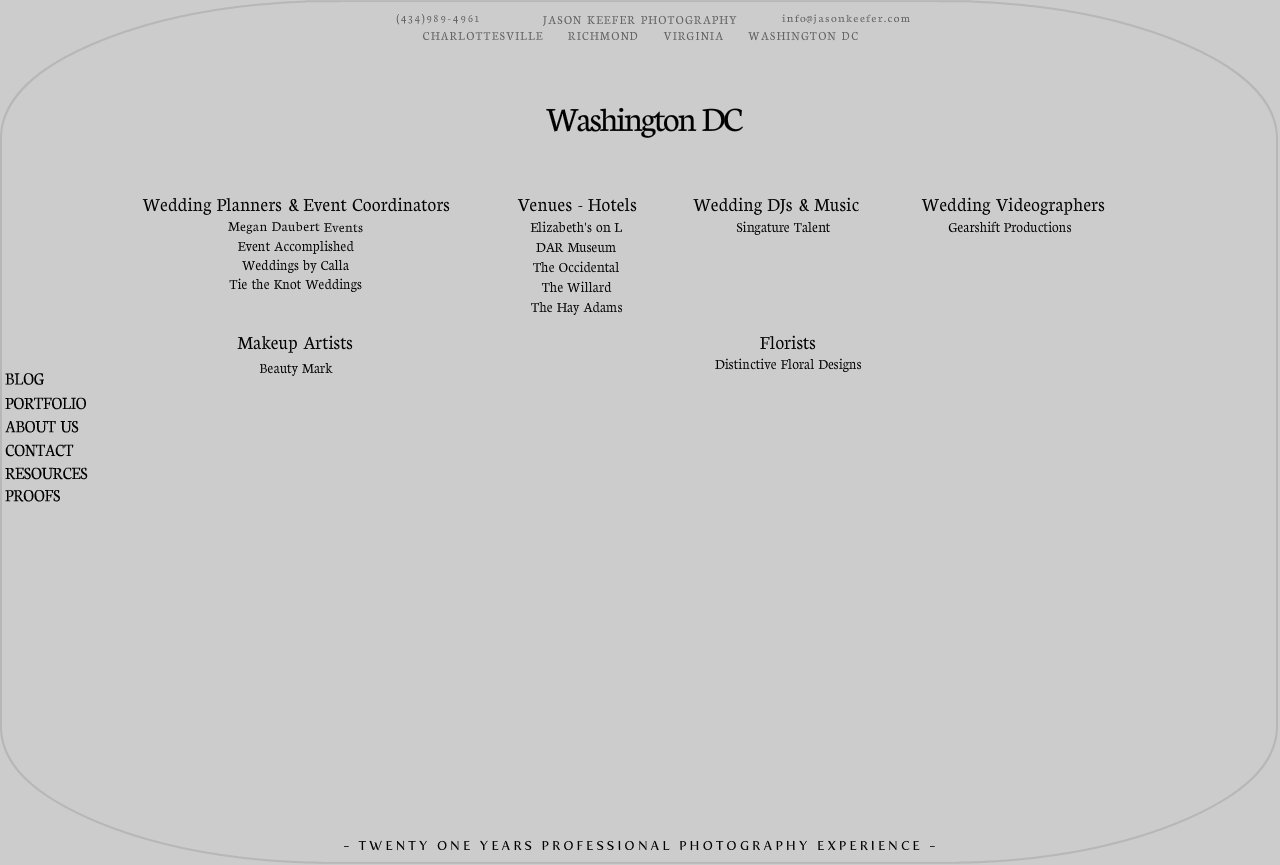 Washington DC Professional Wedding Services