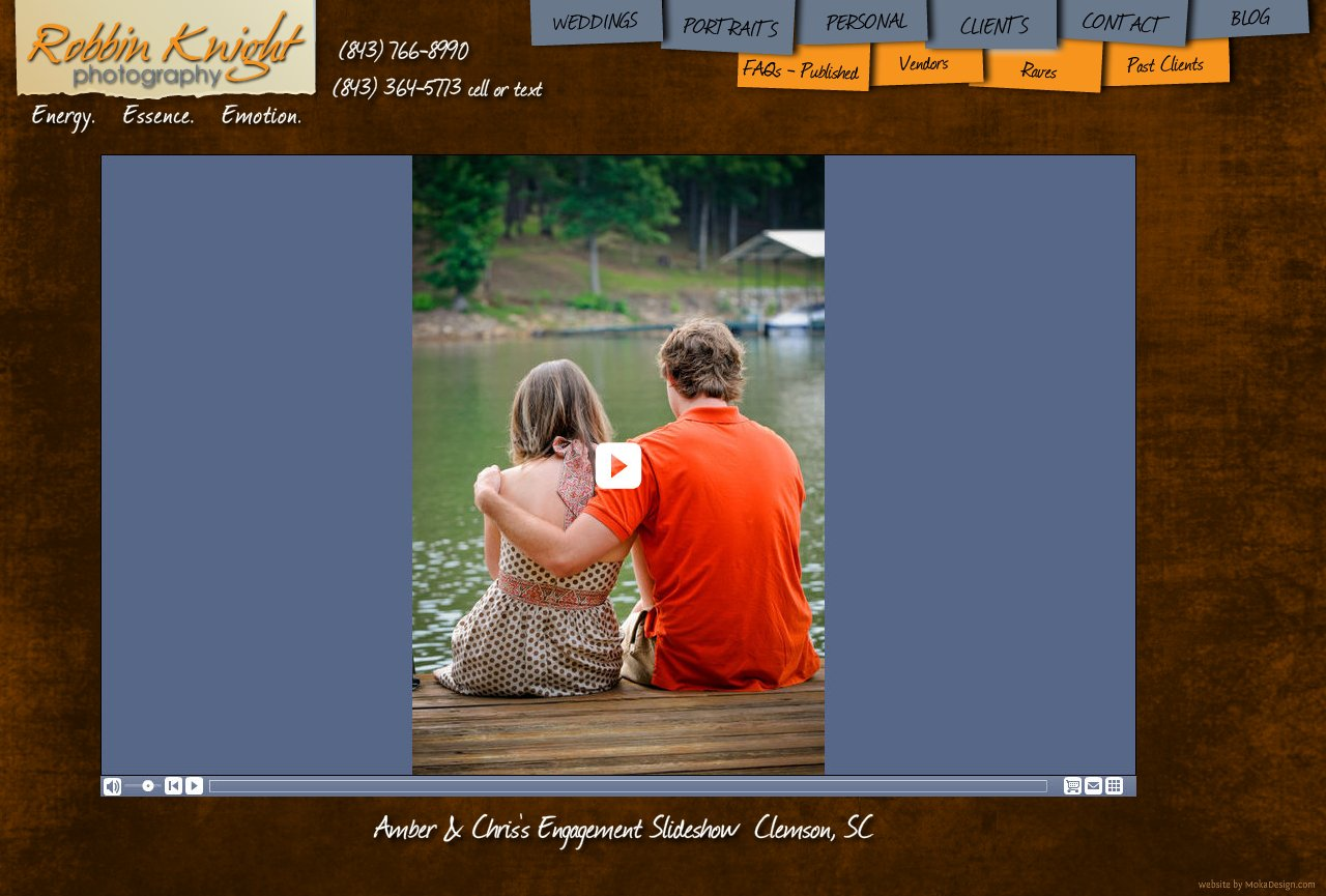 Amber and Chris Engagement Slideshow - Robbin Knight Photography