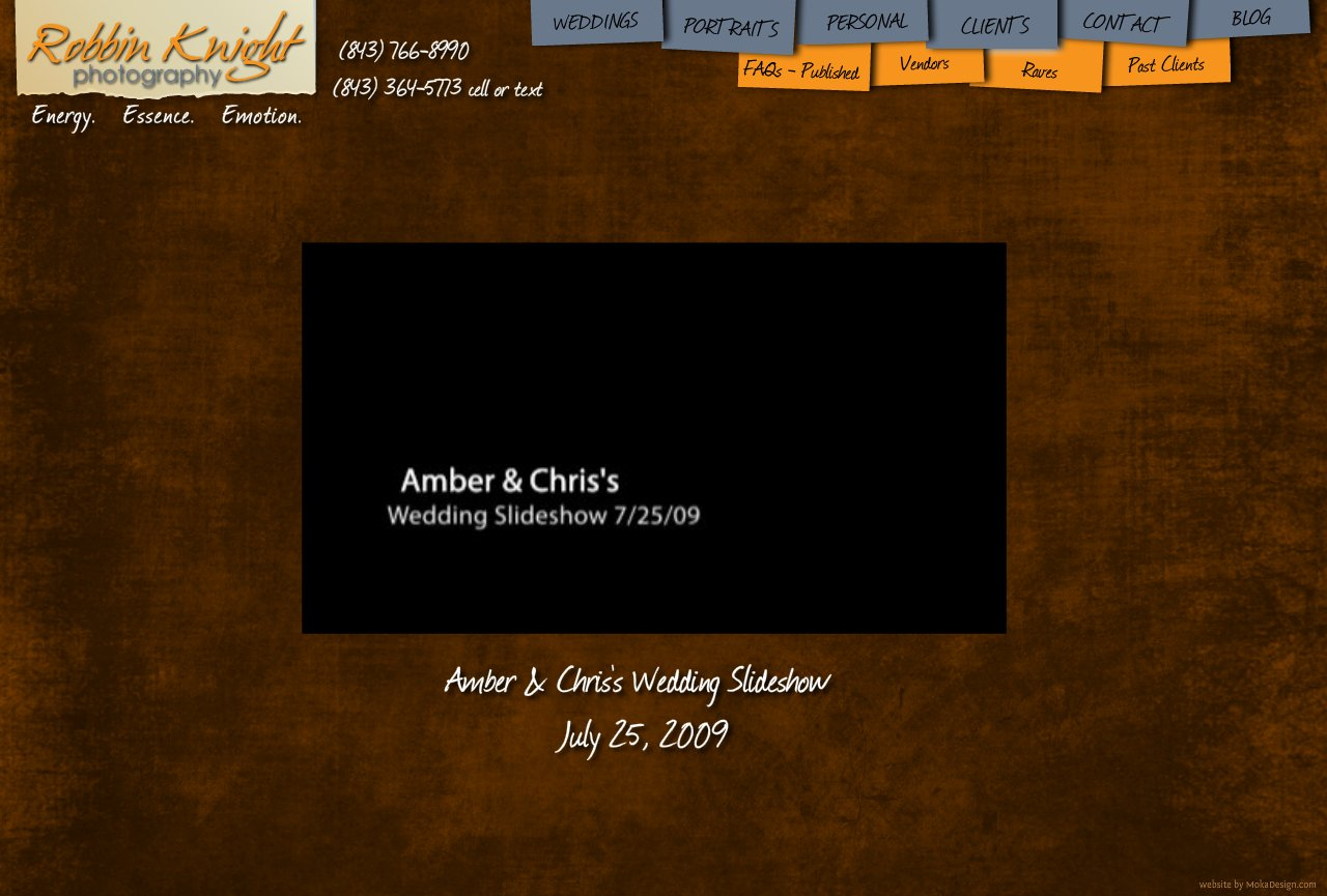 Amber and Chris Wedding Slideshow - Robbin Knight Photography