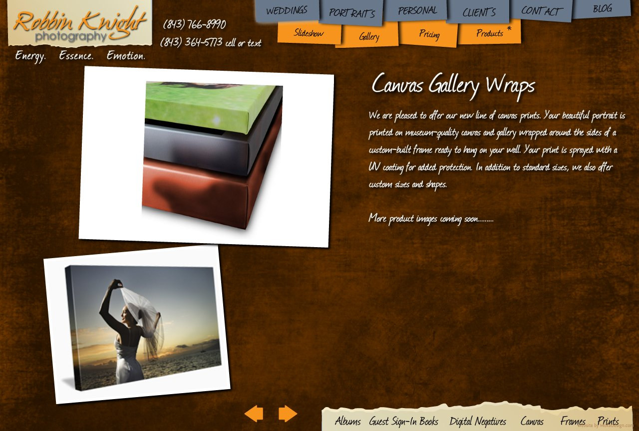 Canvas Gallery Wraps - Robbin Knight Photography - Custom Canvas Gallery Wraps