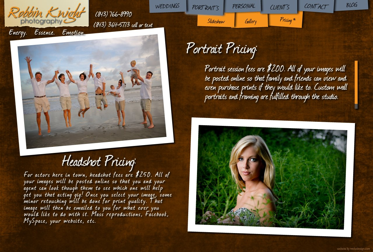 Charleston Portrait Photography / Headshot pricing - Robbin Knight Photography - Portrait Headshot Pricing