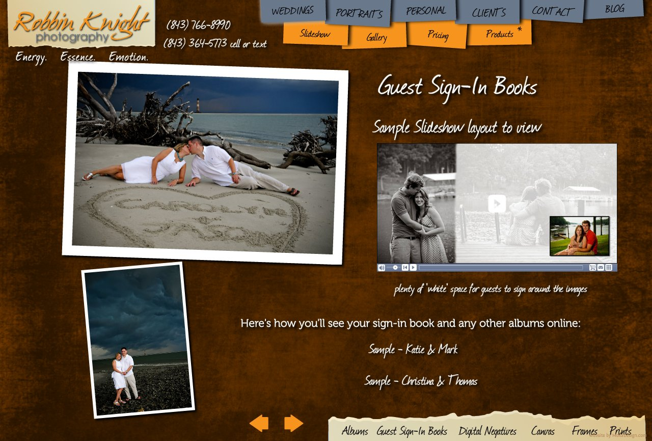 Guest Sign-In Books - Robbin Knight Photography - Custom Guest Sign in books