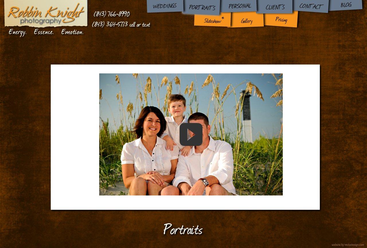 Portraits Slideshow - Robbin Knight Photography - Portrait Slideshow for Charleston, SC