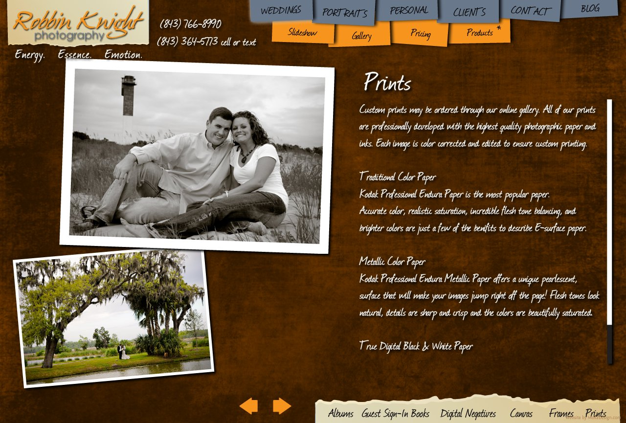 Prints - Robbin Knight Photography - Custom fine art prints from wedding and portrait shoots