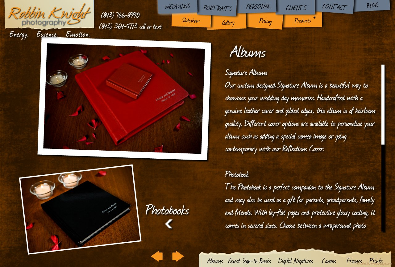 Wedding Albums - Robbin Knight Photography - Custom designed wedding albums