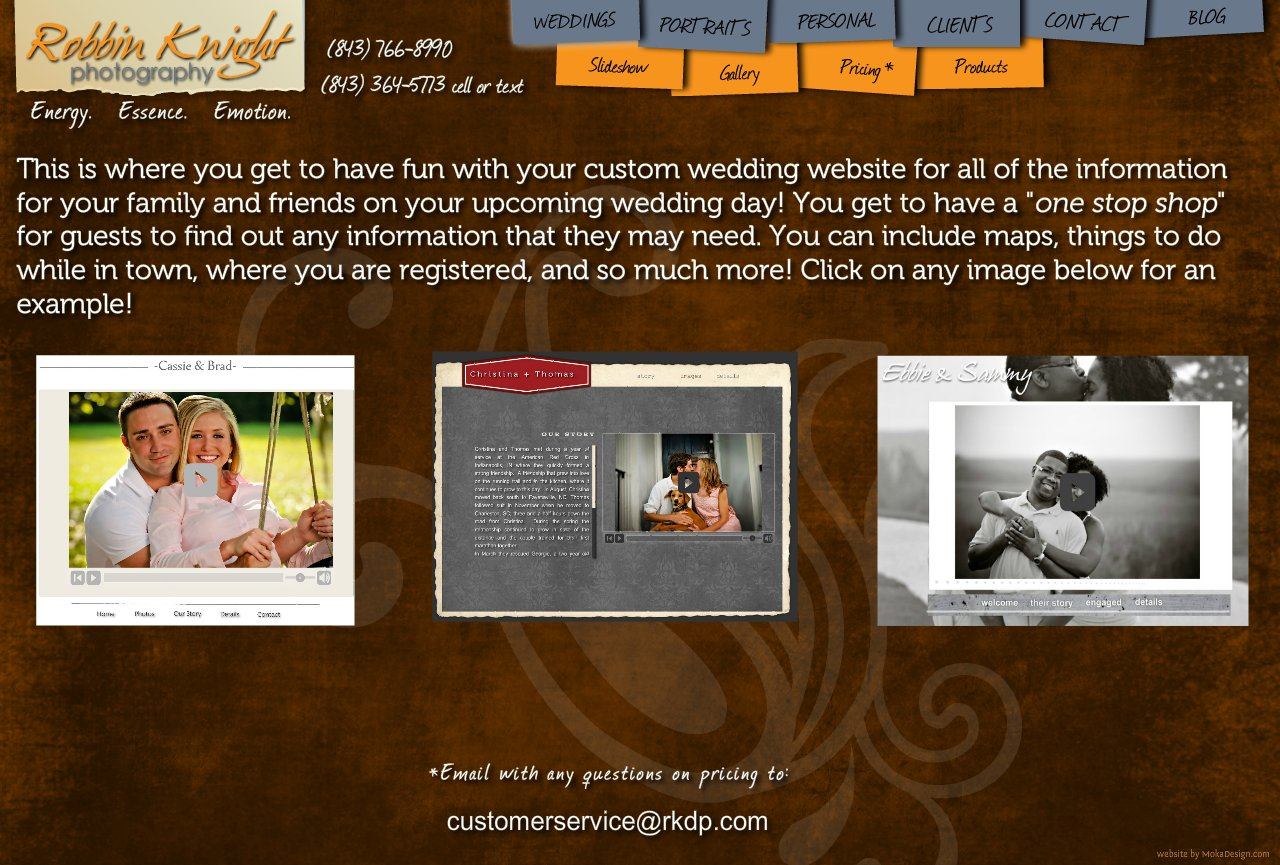 Wedding Pricing page - Robbin Knight Photography - Wedding Photography Pricing Charleston, South Carolina