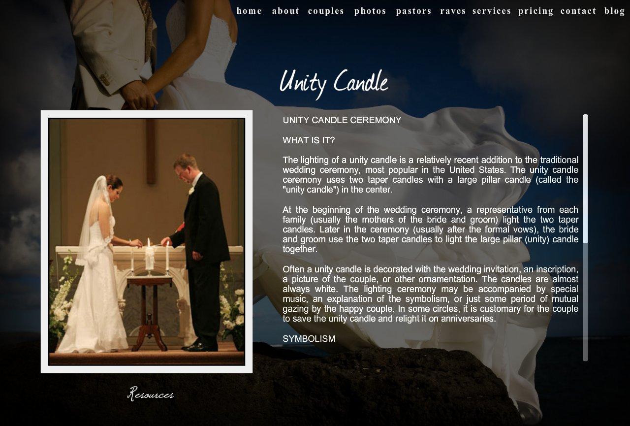 Wedding Pastor Dave Unity Ceremony Wpd