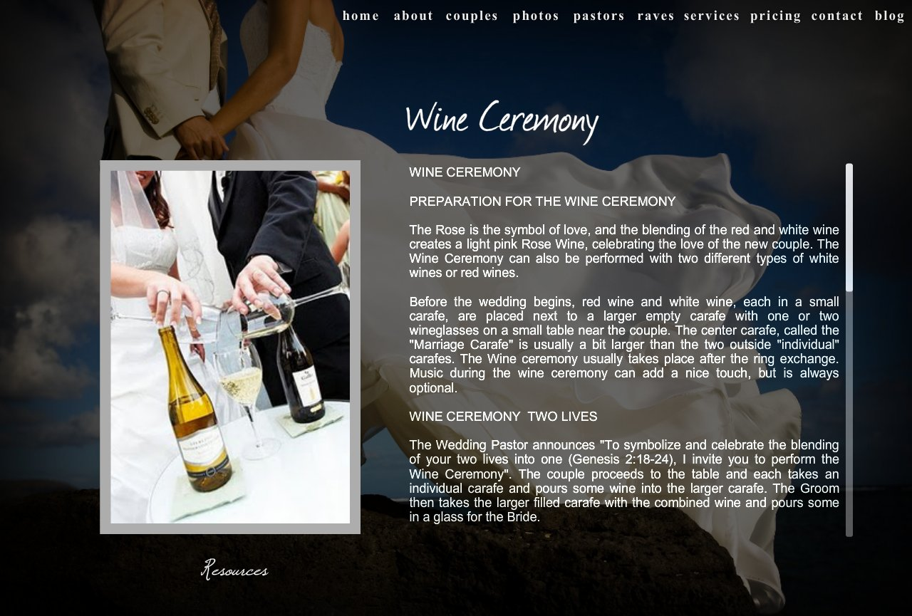 Wine Ceremony Wpd Wedding Pastor Dave