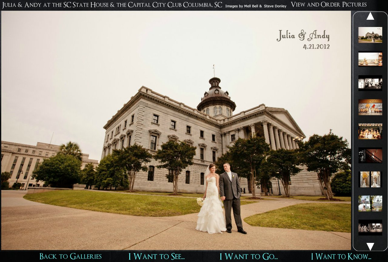Wedding Photography at the South Carolina State House