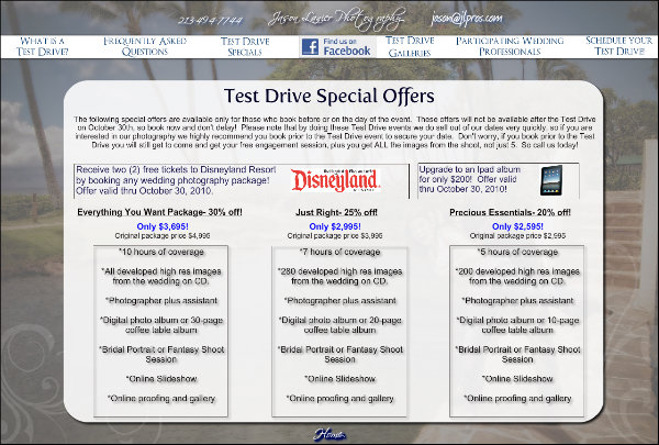 Test Drive Special Offers