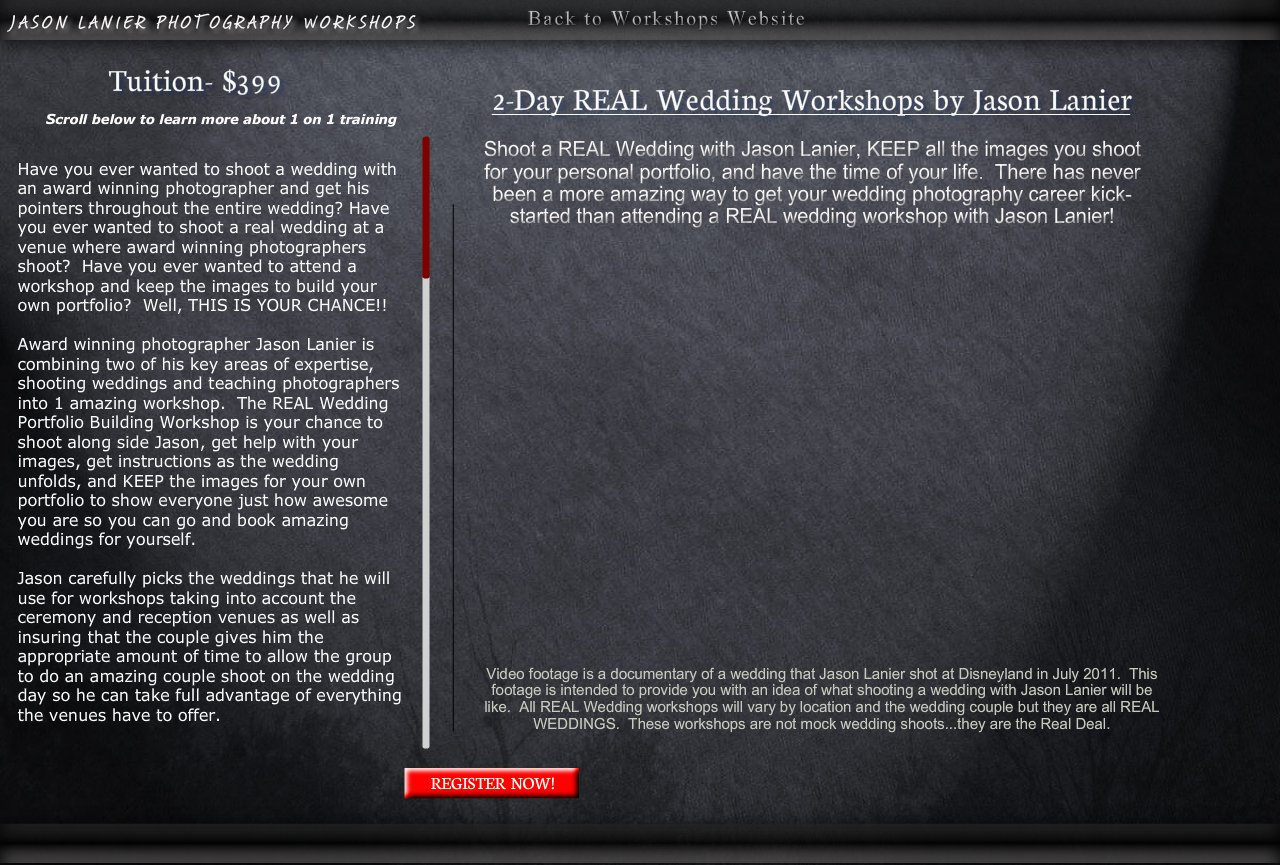 Real Wedding Workshops