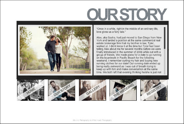 Examples Of Our Story Wedding Websites Answer Your Guests Main Question