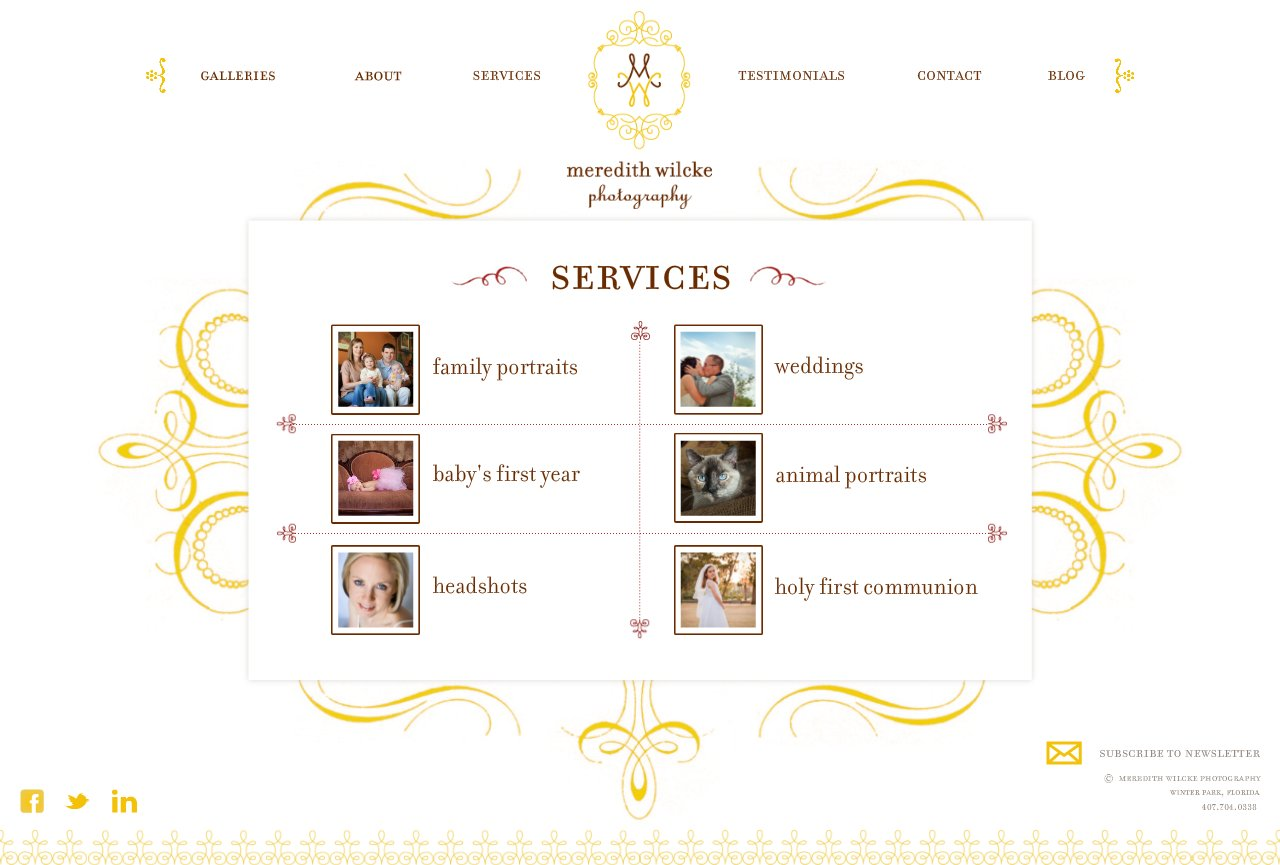 Services Menu