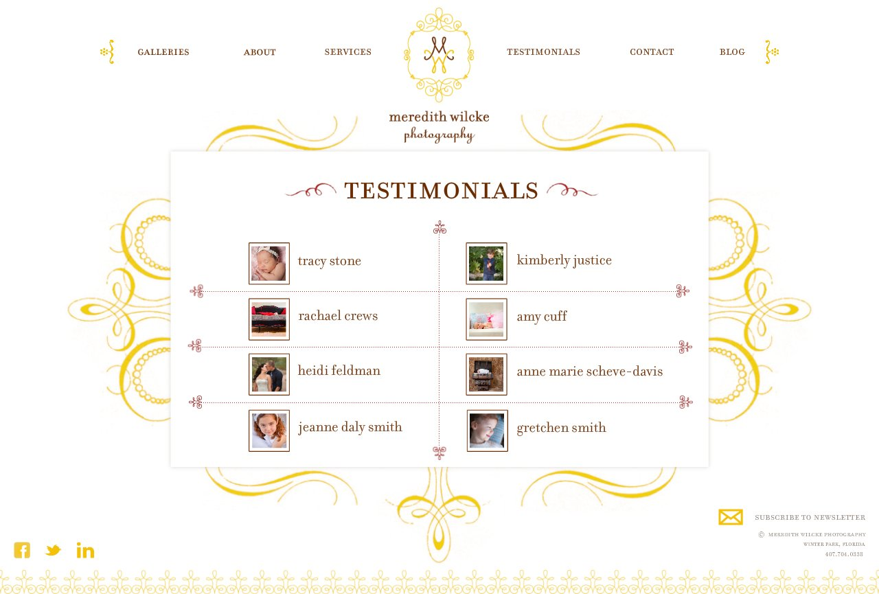 Testimonials Menu