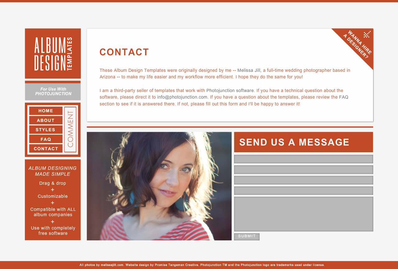 Contact Album Design Templates