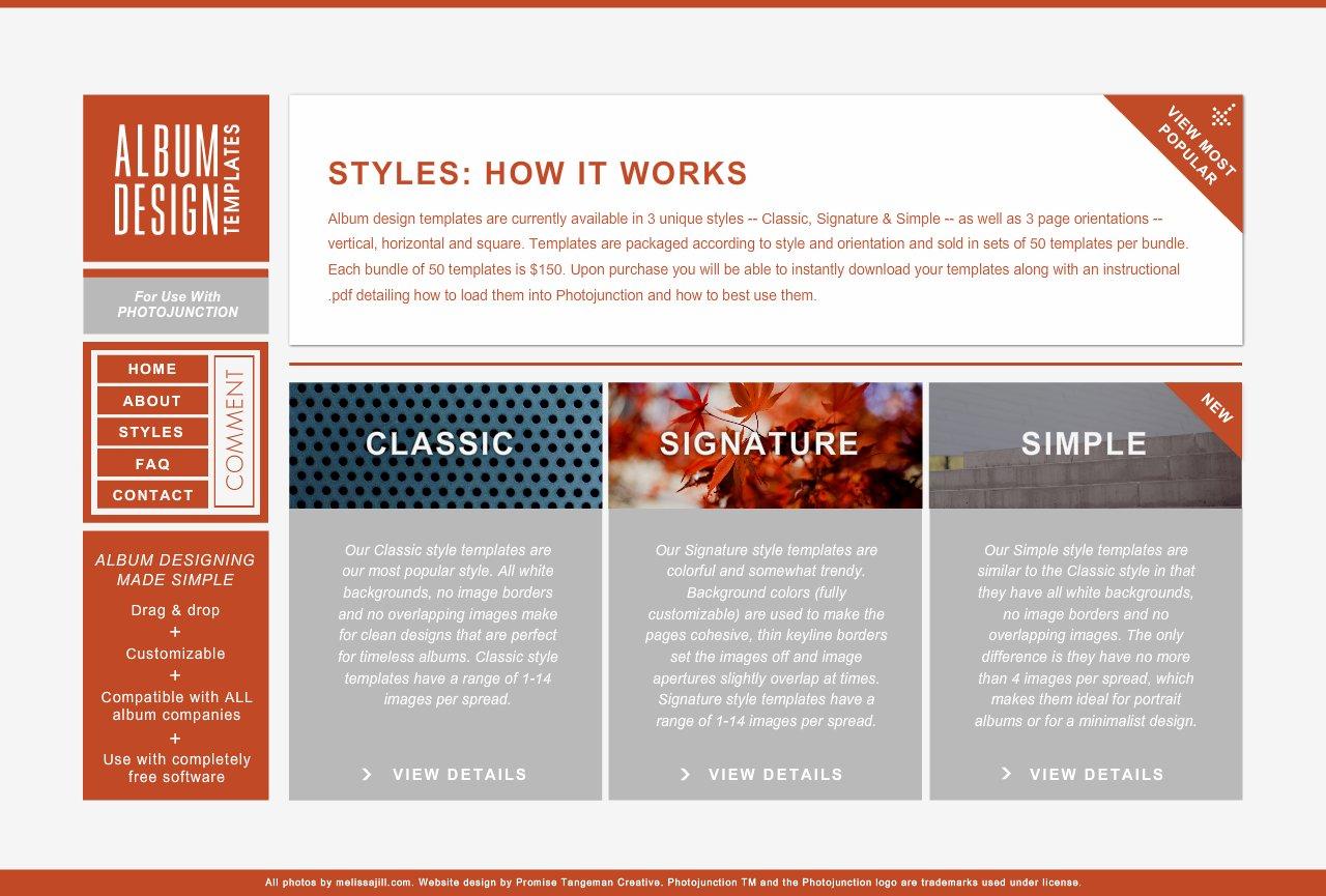 Album Design Template Styles