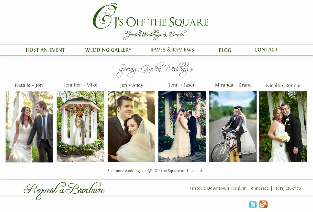 Spring Garden Weddings