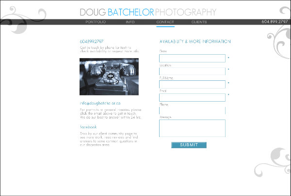 Contact Doug Batchelor Photography
