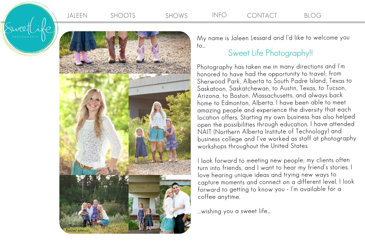 Edmonton Wedding Photographer - Sweet Life Photography All About Me
