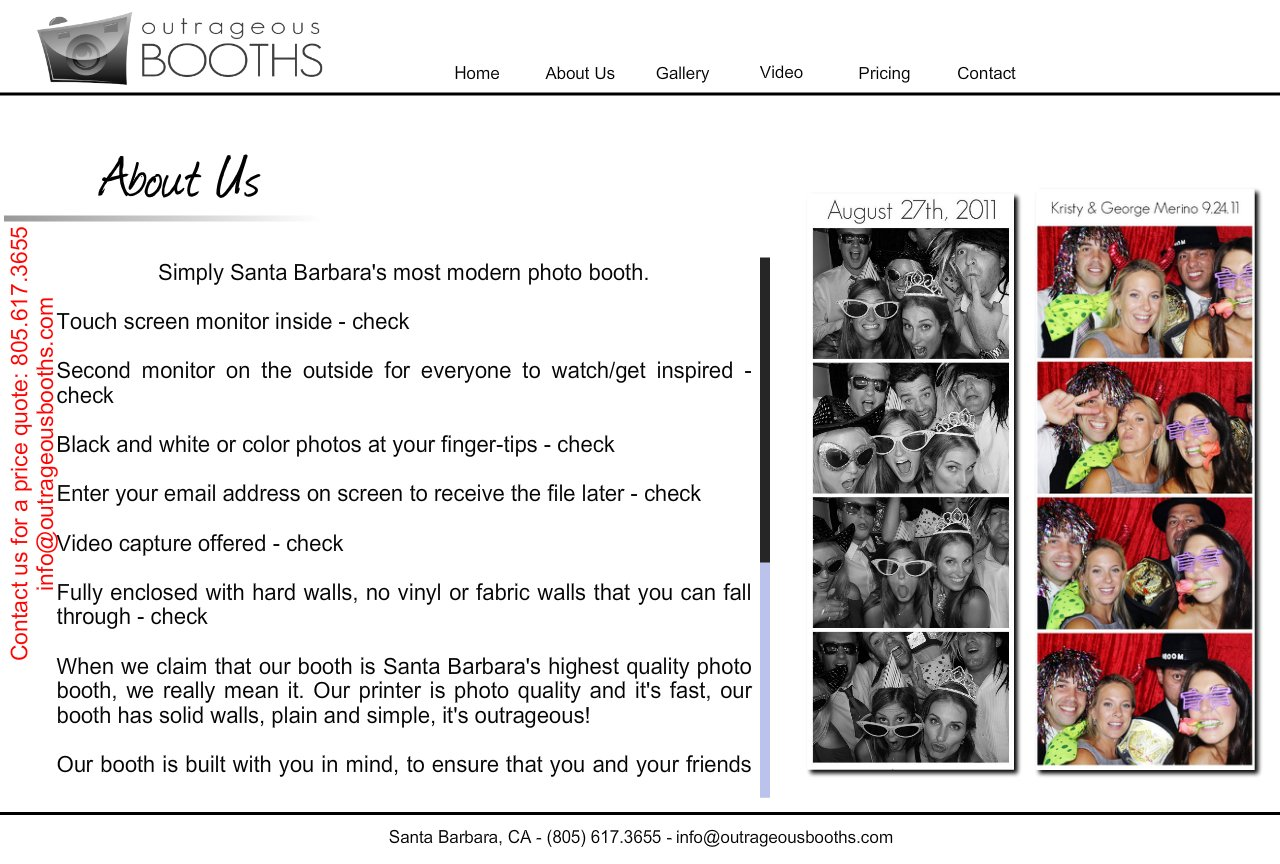 Santa Barbara Photo Booths and rentals