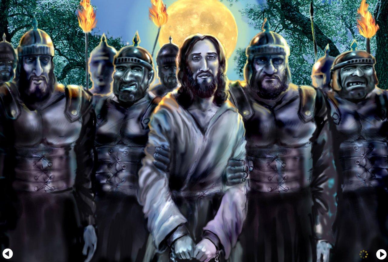 Jesus taken