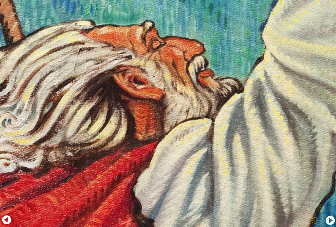 faithbook art - moses face close