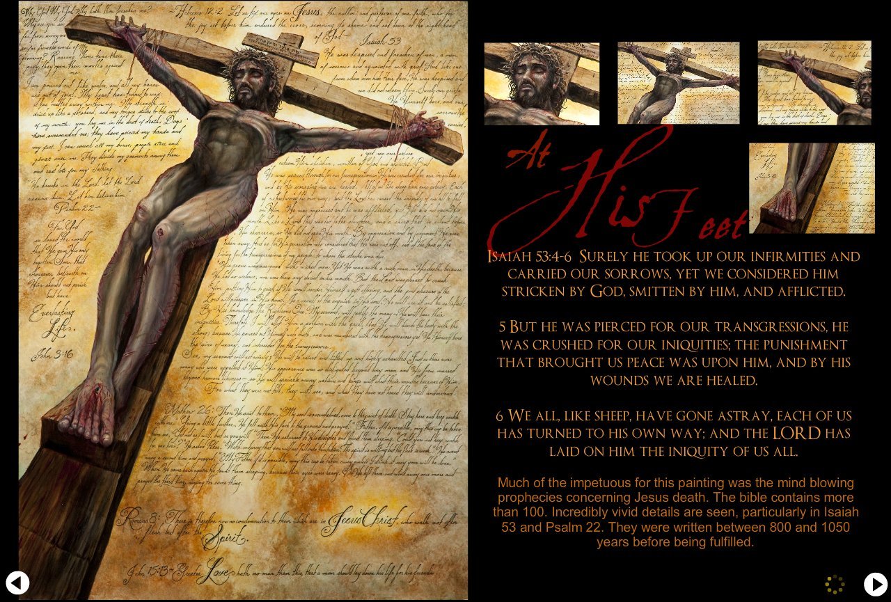 The Cross At his feet