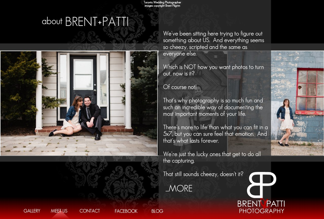 Bio - Brent Pilgrim - Toronto Wedding Photographer