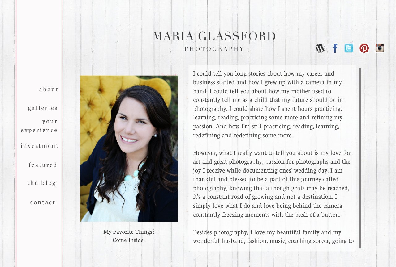Maria Glassford Photography- About