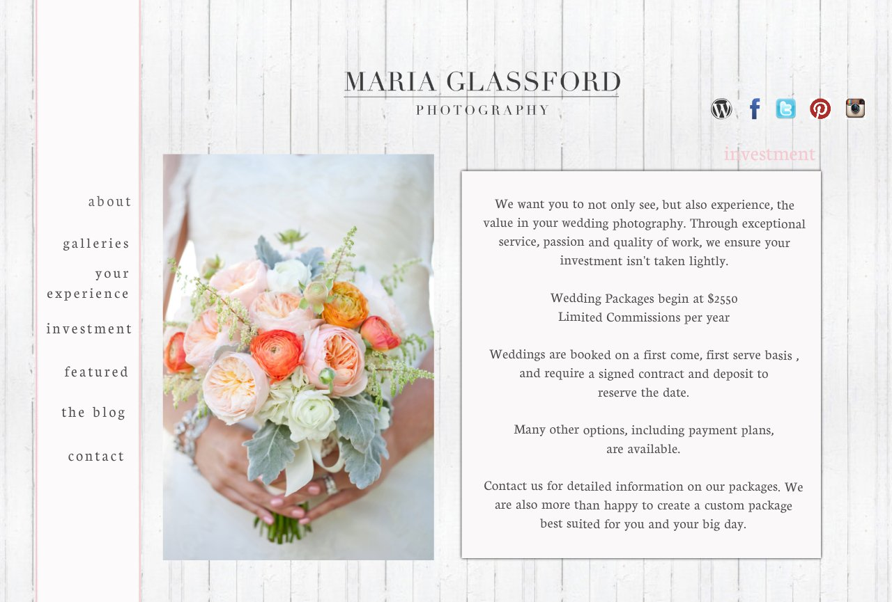 Maria Glassford Photography- Investment