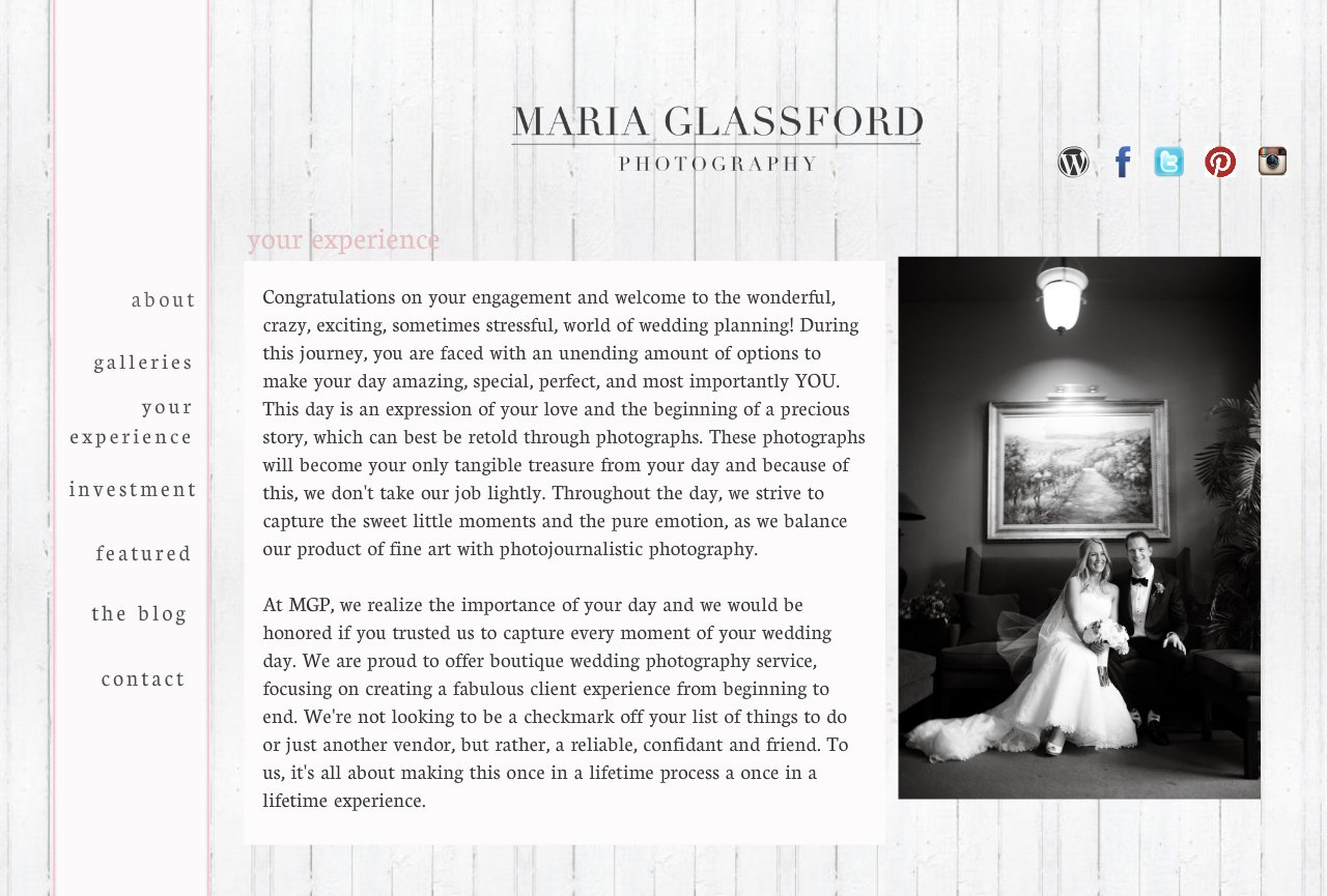 Maria Glassford Photography- Your Experience