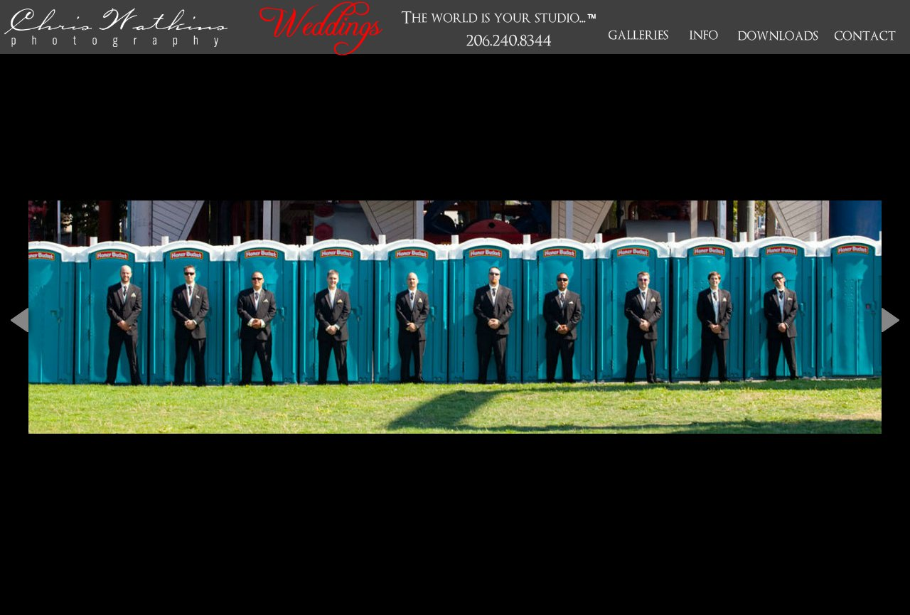 funny wedding photos groomsmen Chris Watkins Portrait Photography