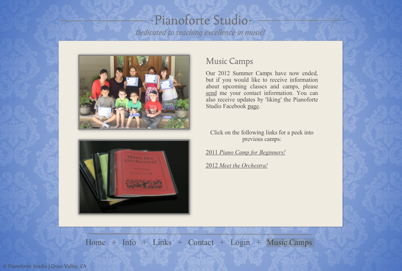 Grass Valley Piano Studio Music Camps