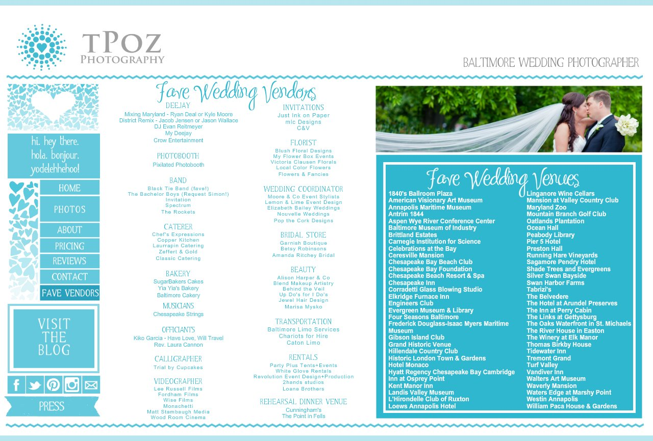 Tpoz Photography Baltimore Wedding Photographer