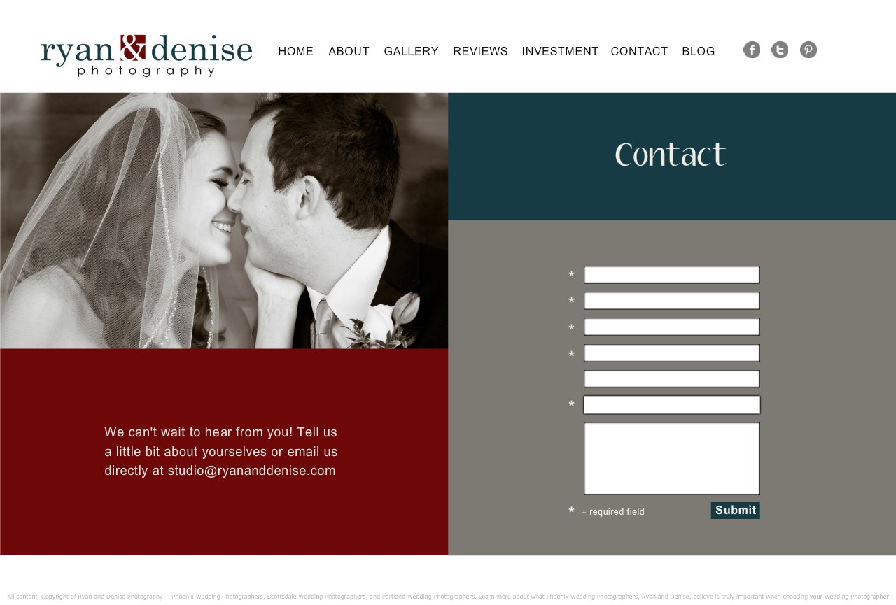 Contact | Phoenix Wedding Photographer | Scottsdale Wedding Photographer | San Diego Wedding Photographer | Portland Wedding Photographer