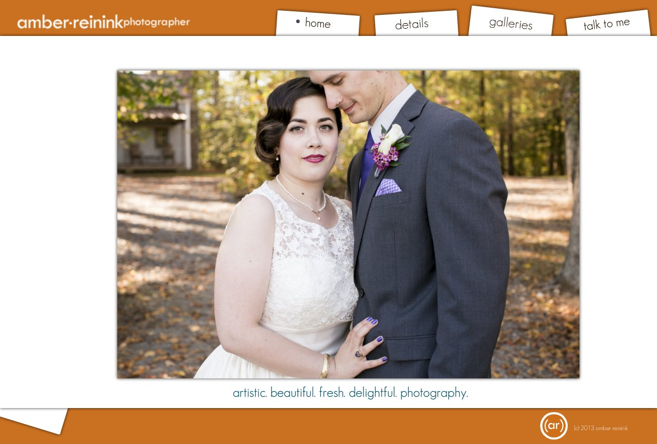 Home Page of Amber Reinink Photographer