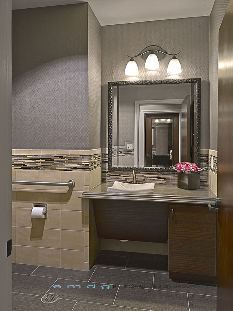 Enviromed design group dental office design medical for Office bathroom ideas