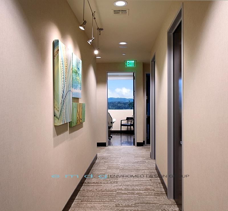 Enviromed design group dental office design medical for Office hallway design