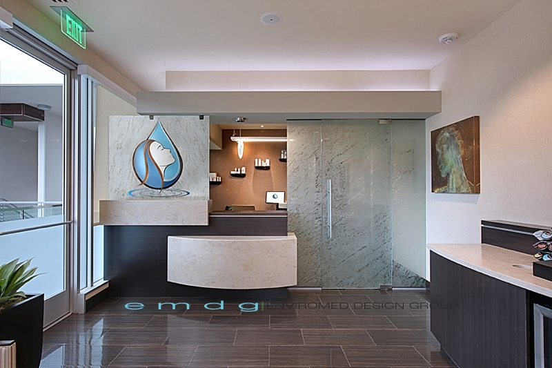 dentist office design. Green Dental Office Design Med Spa Medical Plastic Surgery Architect EnviroMed Group_Front Desk 0140 Dentist