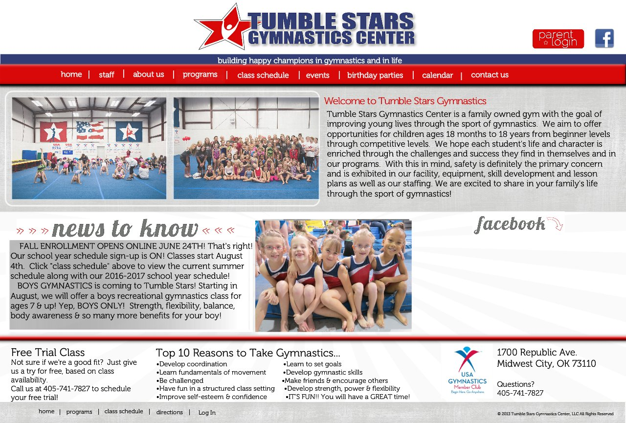 Tumble Stars Gymnastics Center: Building happy champions in gymnastics & in life