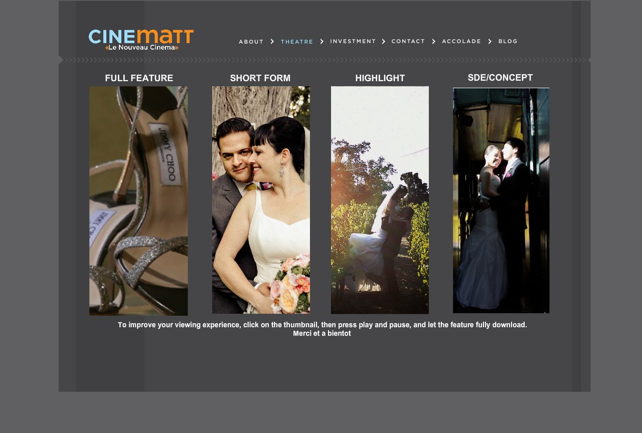 wedding gallery for cinematt